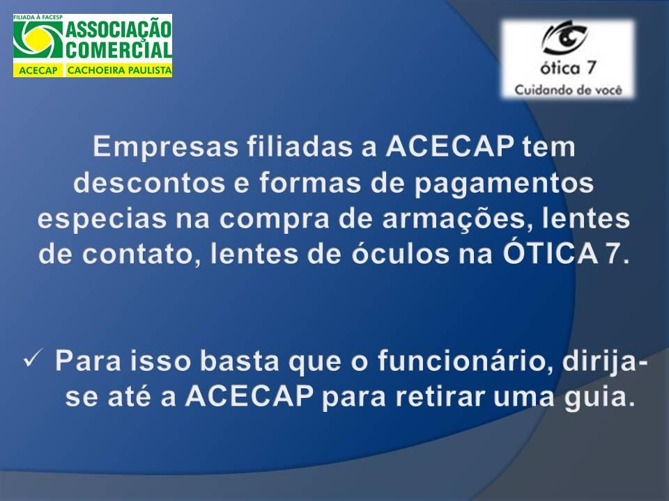 06613458cc065 OTICA 7   Associação Comercial e Empresarial de Cachoeira Paulista